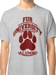 FUR UNIVERSITY -red- Classic T-Shirt