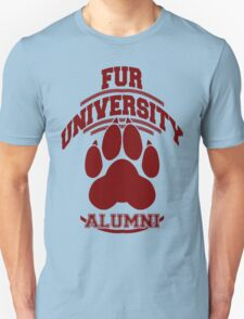FUR UNIVERSITY -red- Unisex T-Shirt