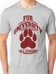 FUR UNIVERSITY -red- Unisex T-Shirt