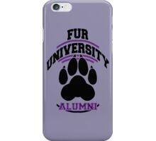 FUR UNIVERSITY -purple- iPhone Case/Skin
