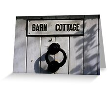 Barn Door - Autumn shadows Greeting Card