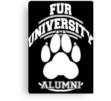 FUR UNIVERSITY -white- Canvas Print