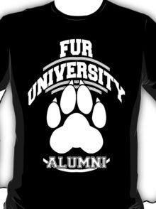 FUR UNIVERSITY -white- T-Shirt