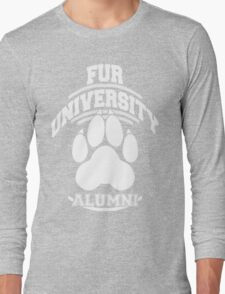 FUR UNIVERSITY -white- Long Sleeve T-Shirt