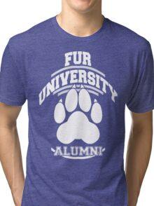 FUR UNIVERSITY -white- Tri-blend T-Shirt