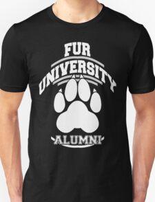FUR UNIVERSITY -white- Unisex T-Shirt