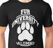 FUR UNIVERSITY -white- Unisex T-Shirt