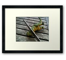 Death to Dinosaurs! Framed Print