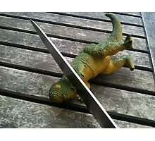 Death to Dinosaurs! Photographic Print