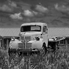 Black & White Photo of a Vintage Dodge Truck by Randall Nyhof