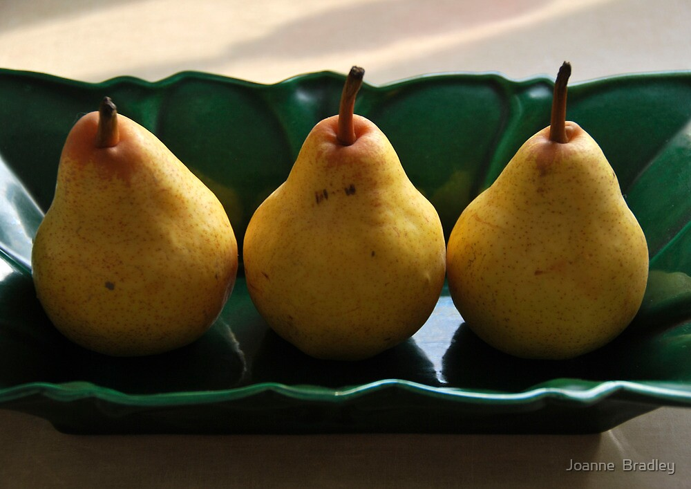 Three Pears by Joanne  Bradley