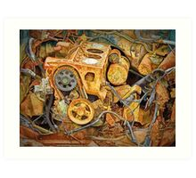 Photo of an Engine Block from a wrecked Auto Art Print