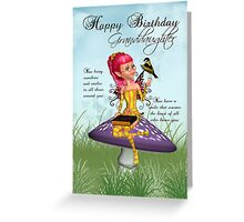 Granddaughter Birthday Card With Fairy Greeting Card
