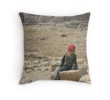 Young Bedouin Girl - Petra, Jordan Throw Pillow