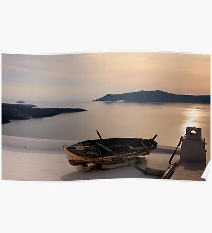 Santorini Dreaming - Thira, Santorini Poster