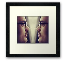 Tell me something I don't know about myself Framed Print