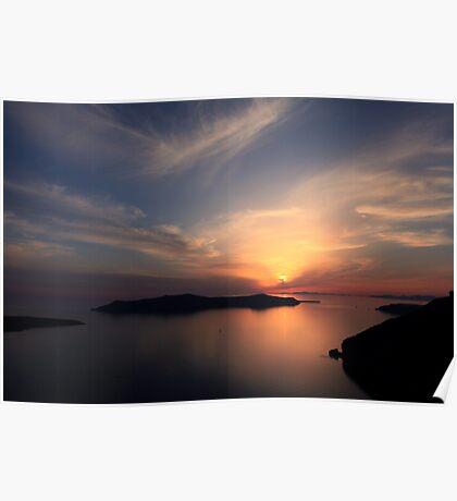 Santorini Drama - Thira, Santorini Poster