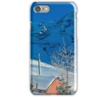 Eiger Winter Scene iPhone Case/Skin