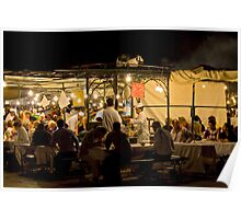 Food Stalls of Jemaa El Fna Poster