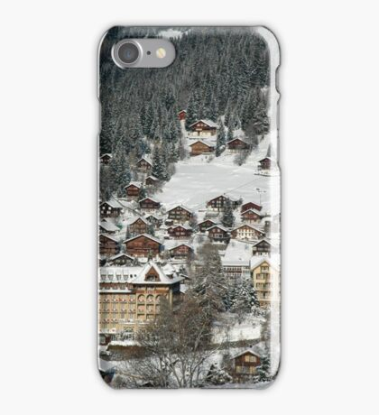 Swiss Winter Village Scene iPhone Case/Skin