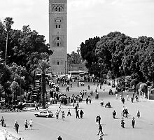 Jemaa El Fna & Koutoubia Mosque by Neil Clarke