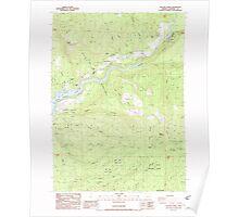 USGS Topo Map Oregon Cascade Gorge 279284 1988 24000 Poster