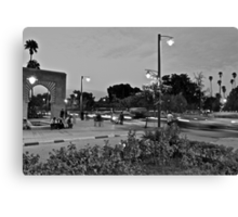 Rush hour traffic of Avenue Mohammed 5th Canvas Print