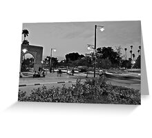 Rush hour traffic of Avenue Mohammed 5th Greeting Card