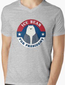 ICE BEAR FOR PRESIDENT. Mens V-Neck T-Shirt