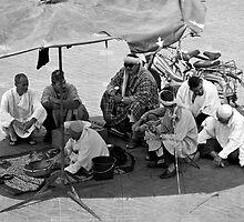 Snake Charmers of Jemaa El Fna by Neil Clarke