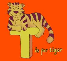 T is for Tiger Kids Tee
