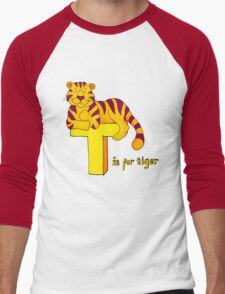 T is for Tiger Men's Baseball ¾ T-Shirt