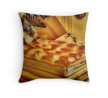 Smell The Bread Throw Pillow