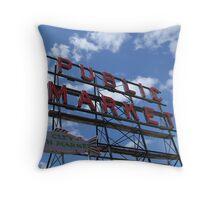 Public Market Throw Pillow