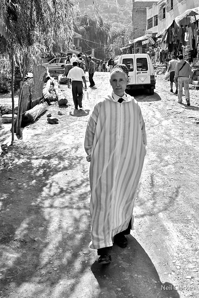 Street portrait taken in Ourika by Neil Clarke