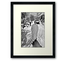 Street portrait taken in Ourika Framed Print