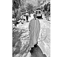 Street portrait taken in Ourika Photographic Print