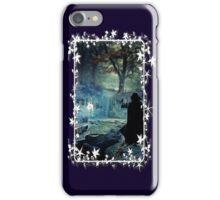 A Silver Doe  - white framed iPhone Case/Skin