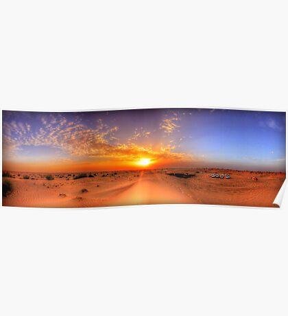 Dubai Desert HDR Panorama Poster