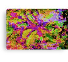 Abstract Flower Screen Print Canvas Print