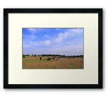 Blue is just a Kansas summer sky Framed Print