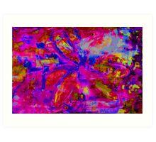 Abstract Flower Screen Print 2 Art Print