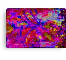 Abstract Flower Screen Print 2 Canvas Print