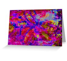 Abstract Flower Screen Print 2 Greeting Card