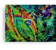 Absract Leaf Screen Print 2 Canvas Print
