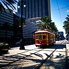 Trolley on Canal Street, New Orleans by Natalie Parker