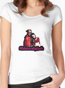 Mickey & Mallory Knox #RelationshipGoals Women's Fitted Scoop T-Shirt