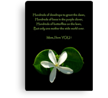 Happy Mothers' Day !!! ~ Part One Canvas Print