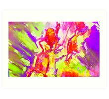 Abstract Snapdragon flower Screen Print 2 Art Print