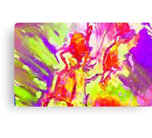 Abstract Snapdragon flower Screen Print 2 Canvas Print